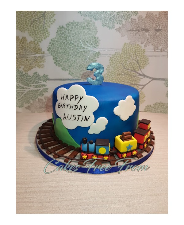 Tags Cakes Free From Dairy Egg Nut Chocolate Cake Train Vegan Birthday