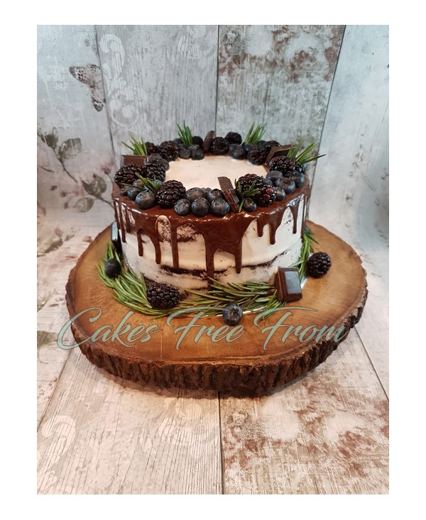 chocolate ganache drip wedding cake semi cake 12710
